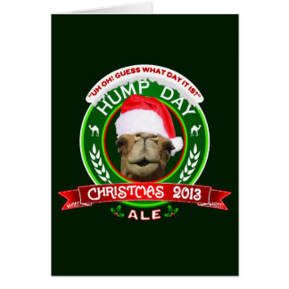 Hump Day Christmas Ale Label Greeting Card