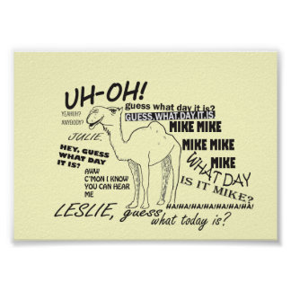 Hump Day Funny Camel Poster