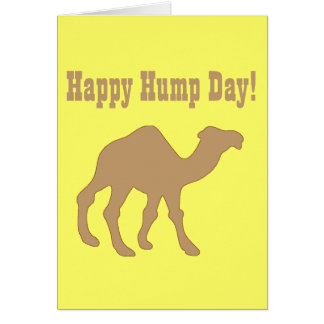 Hump day ! Happy Hump Day Greeting Card