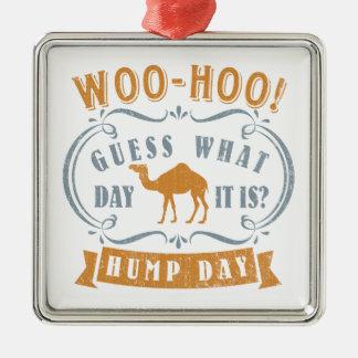 Hump day Silver-Colored square decoration
