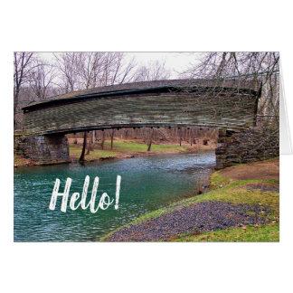 Humpback Covered Bridge Virginia Hello Note Card