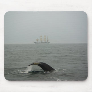 Humpback Whale and Tall Ship 2 Mousepad