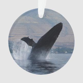 humpback whale breach ornament