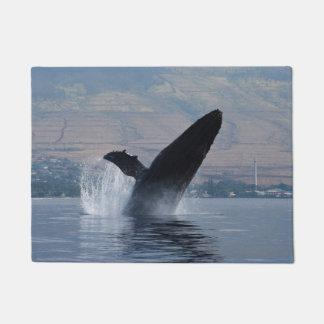 humpback whale breaching doormat