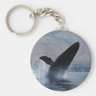 humpback whale breaching key ring