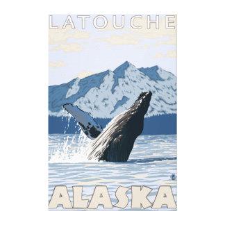 Humpback Whale - Latouche Alaska Canvas Prints