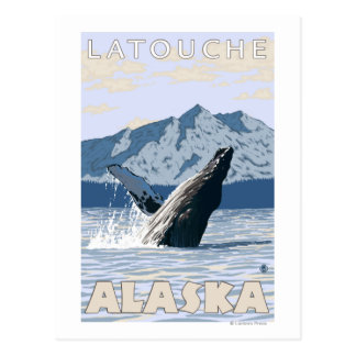 Humpback Whale - Latouche, Alaska Postcard