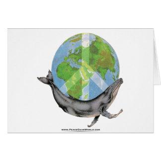 Humpback Whale Peace design. Card