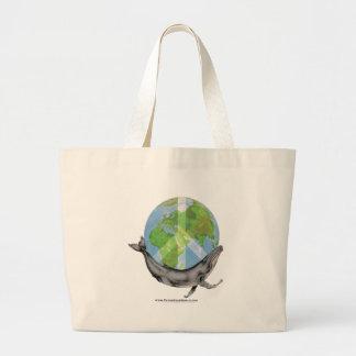 Humpback Whale Peace design. Large Tote Bag