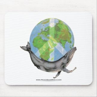Humpback Whale Peace design. Mouse Pad