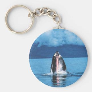 Humpback Whale Rising Key Ring