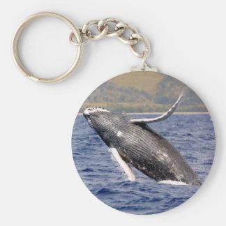 Humpback Whale Splashing Key Ring