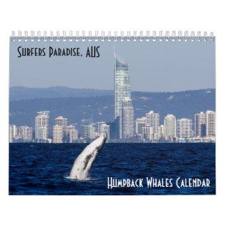 Humpback Whale Surfers Paradise Pacific Ocean Calendar