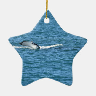 HUMPBACK WHALE TAIL MACKAY QUEENSLAND AUSTRALIA CERAMIC ORNAMENT