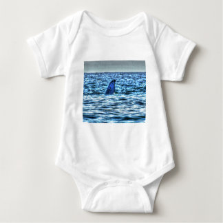 HUMPBACK WHALE TAIL QUEENSLAND AUSTRALIA ART BABY BODYSUIT