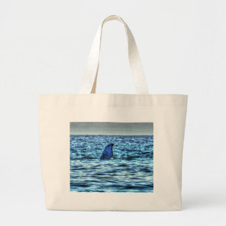 HUMPBACK WHALE TAIL QUEENSLAND AUSTRALIA ART LARGE TOTE BAG