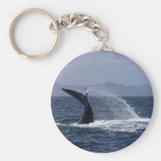 Humpback Whale Tail Splash Key Ring