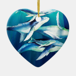 Humpback Whales Ceramic Ornament