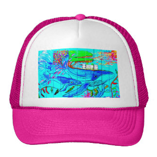 humpback whales hat trucker hat