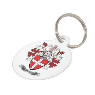 Humphrey Family Crest Coat of Arms Pet Tag