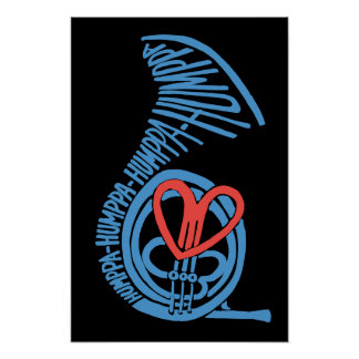 Humppa Love Blue2 Poster or Print