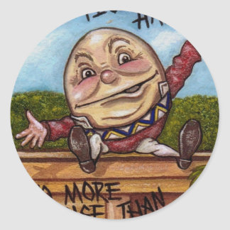 HUMPTY DUMPTY Alice in Wonderland Sticker