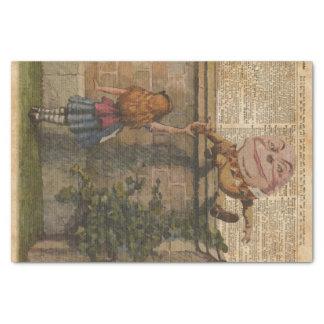 Humpty Dumpty & Alice Vintage Book Illustration Tissue Paper