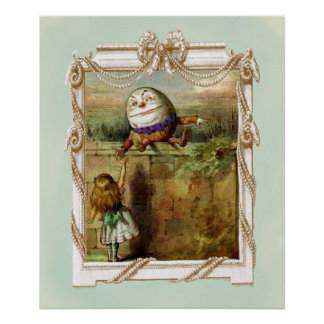 Humpty Dumpty and Alice Poster