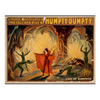 Humpty Dumpty, 'Cave of Darkness' Retro Theater Postcard