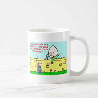 humpty dumpty insurance coffee mug