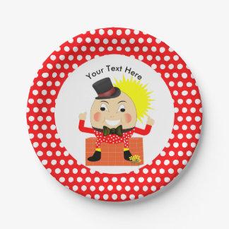 Humpty Dumpty Nursery Rhyme Cute Personalized Paper Plate