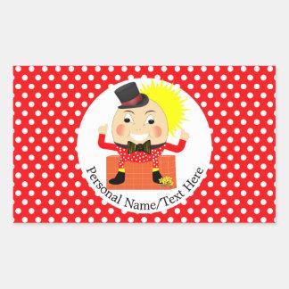 Humpty Dumpty Nursery Rhyme Cute Personalized Rectangular Sticker