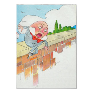 Humpty Dumpty sat on a wall 13 Cm X 18 Cm Invitation Card