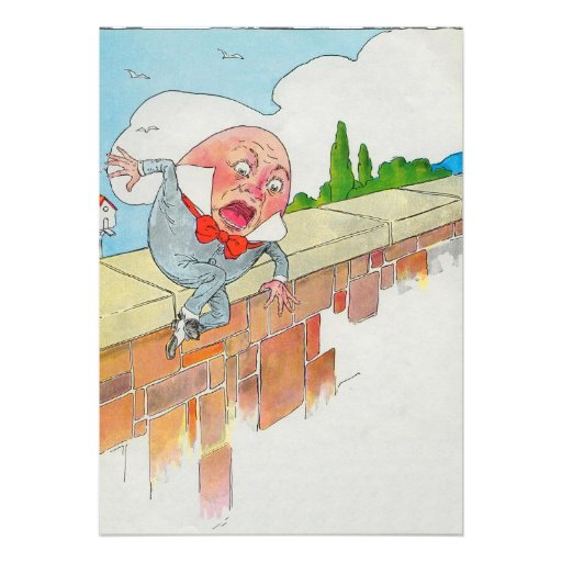 Humpty Dumpty sat on a wall Custom Announcement
