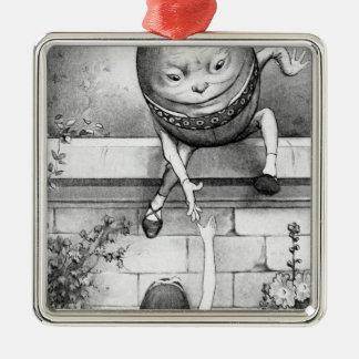 Humpty Dumpty Silver-Colored Square Decoration