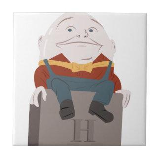 Humpty Dumpty Small Square Tile