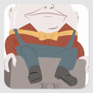 Humpty Dumpty Square Sticker