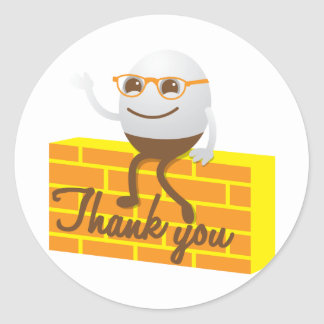 Humpty Dumpty thank you Stickers