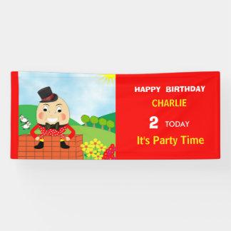 Humpty Dumpty Themed Kids Birthday Party Editable Banner