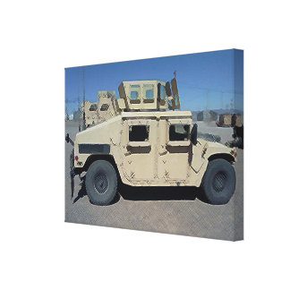 HUMVEE UNITED STATES MILITARY GALLERY WRAP CANVAS