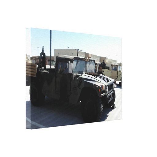 HUMVEE US MILITARY STRETCHED CANVAS PRINT