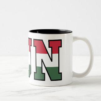 Hun Flag Mug! Two-Tone Coffee Mug