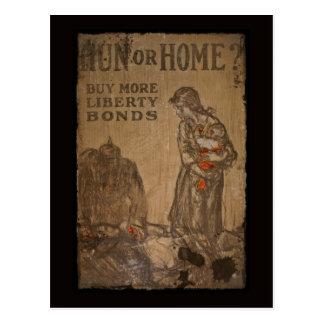 Hun or Home Buy Bonds WWI Postcard