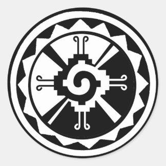 Hunab Ku Creator & Celestial Planets Classic Round Sticker