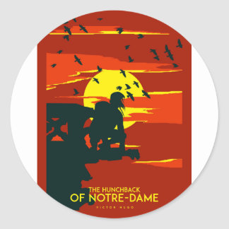 hunchback of notre dame classic round sticker