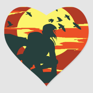 hunchback of notre dame heart sticker