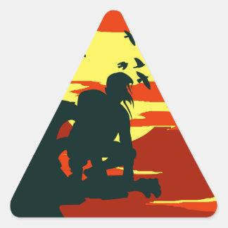 hunchback of notre dame triangle sticker
