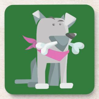 Hund Knochen dog bone Coaster