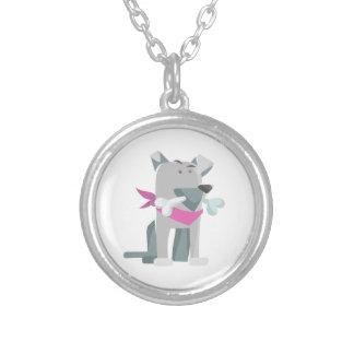 Hund Knochen dog bone Silver Plated Necklace
