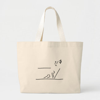 hundred-meter sprint track-and-field events start jumbo tote bag